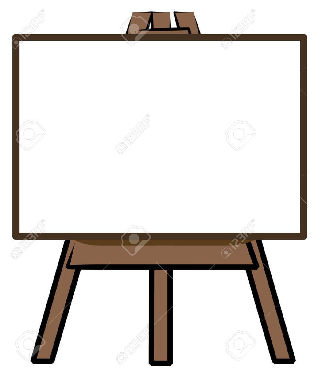 Blackboard clipart whiteboard easel Lady Clipart  Clipart Easel