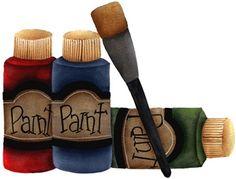 Painting clipart paint bottle Para Paint clipart decoupage desenhos