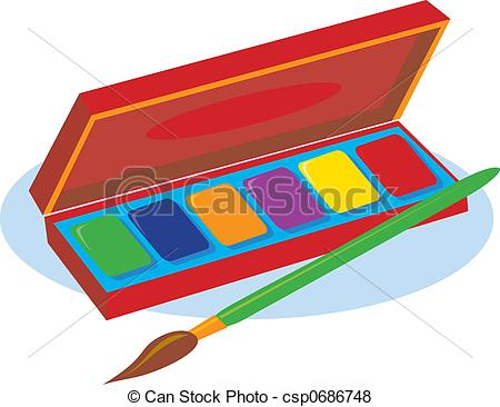 Paint clipart watercolor paint Box box Paint clipart clipart