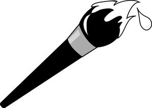 White clipart paintbrush Free Clipart Brush Clip Art