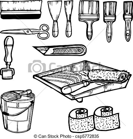 Painting clipart painting tool Clip tools painting Various csp5772835