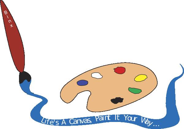 Palette clipart paintbrush  com Art as: vector