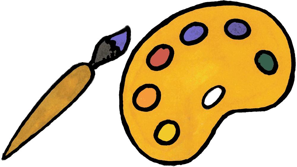 Palette clipart paintbrush Art Without Art Pallet Brush