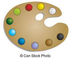 Palette clipart vector paint Vector  Paint Palette paint