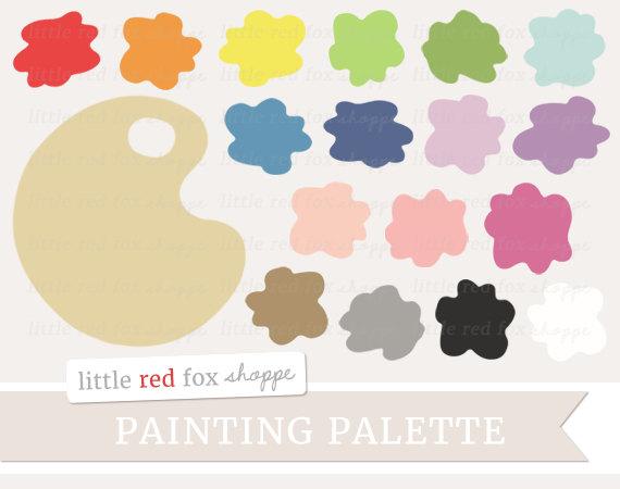 Palette clipart graphic design Art Paintbrush Palette Classroom Painting