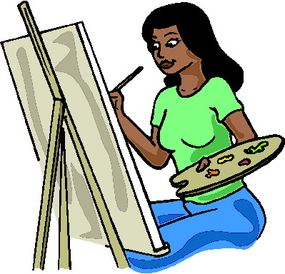 Artistic clipart person painting Clip Painting Art art clip
