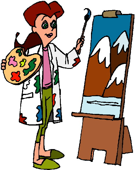 Artistic clipart person painting Free Panda painting%20clipart Clipart Free