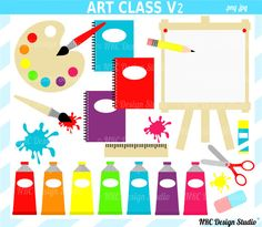 Painting clipart school thing By Party set clip Art