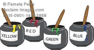 Painting clipart school thing School Art Paint Pots of