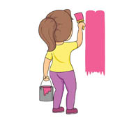 Brush clipart person Kb Results From: girl brush