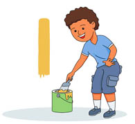 Paint clipart boy painting Clip Wall Painting Clipart –