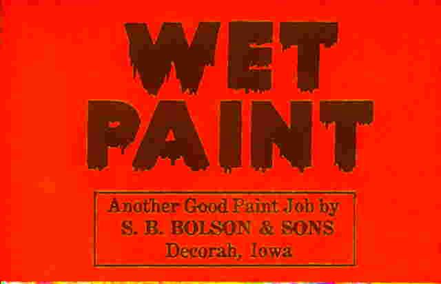 Painting clipart wet paint Com Clip Spanish Signs :
