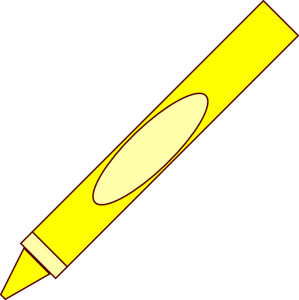 Crayon clipart yellow crayon Clip Free Clipart clip art