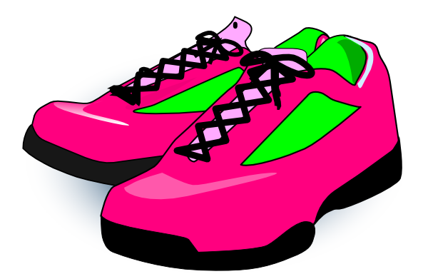 Red clipart running shoe Clipart Pair Clipart Free Of