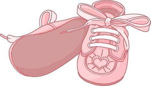 Pair clipart baby shoe These Collection clipart  Illustration