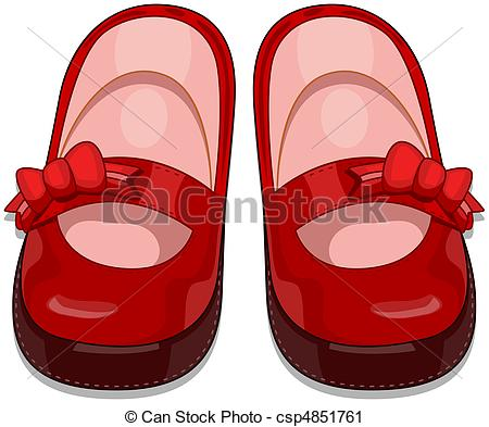 Pair clipart baby shoe Of a Illustration  Baby