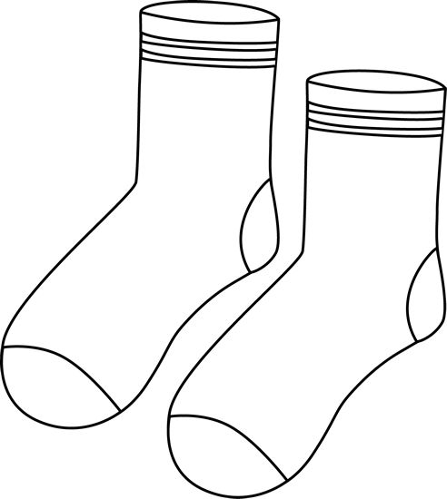 Pair clipart colorful sock Black Socks art Socks เครื่องแต่งกาย