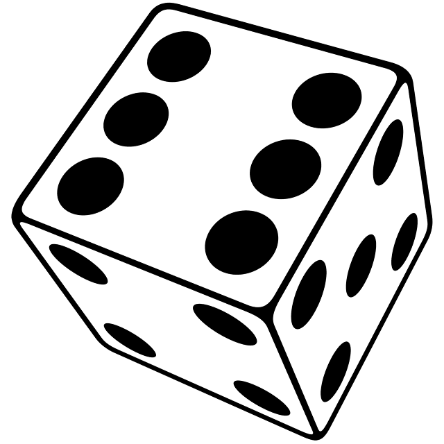 Dice clipart six sided Typophile Free library Download Dice