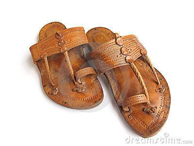 Pair clipart slipper Stock Indian Leather collection Traditional