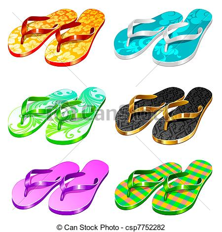 Pair clipart slipper Search Illustration Vector  csp7752282