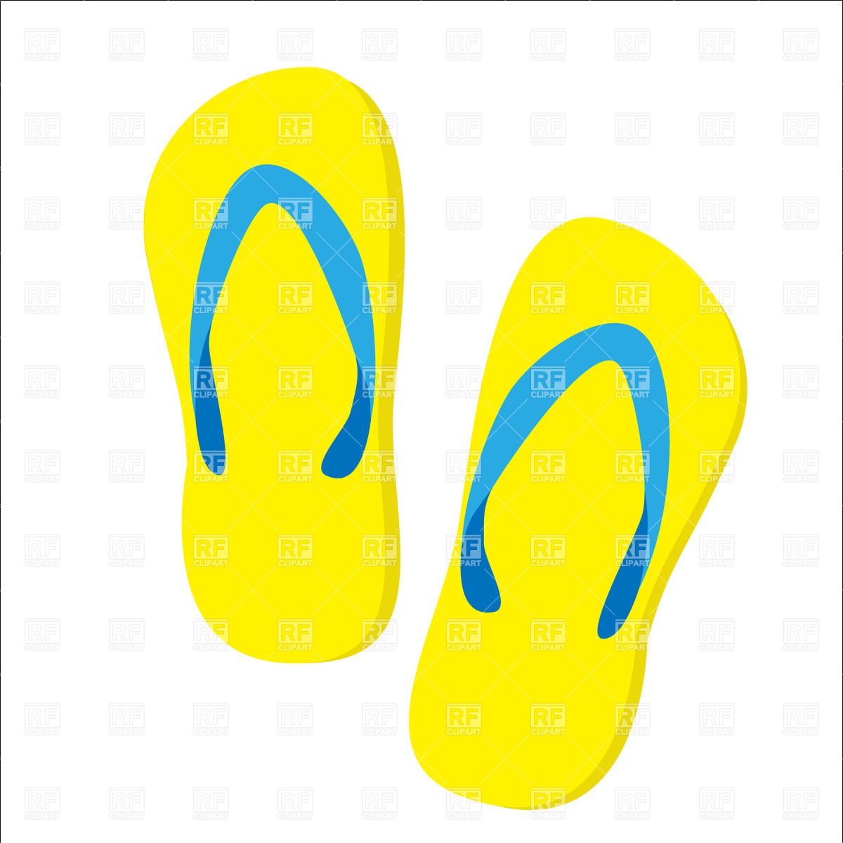 Pair clipart slipper Clipart Beach Slippers – Clip
