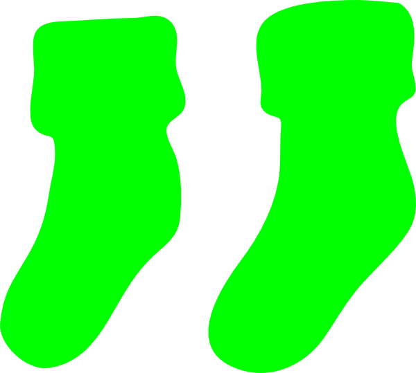Pair clipart sock This Green online image Clip