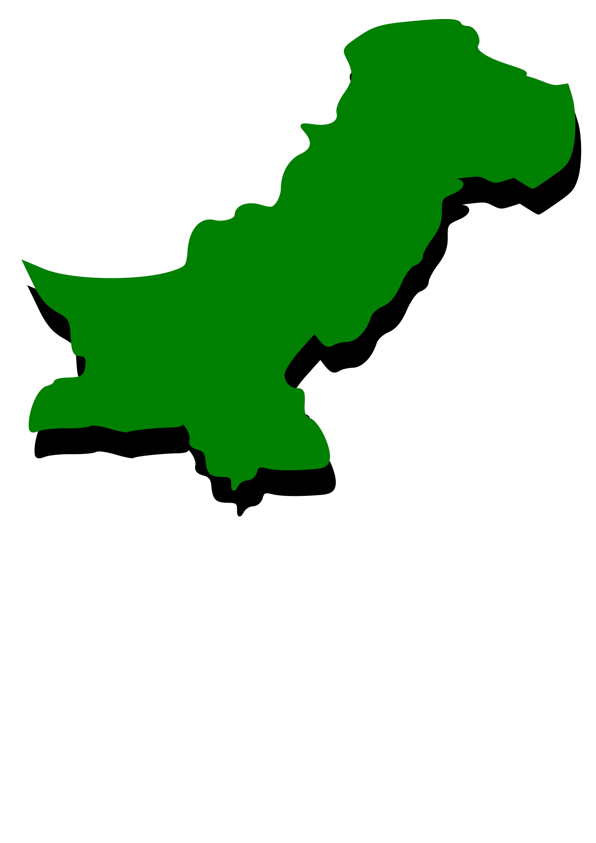 Pakistan clipart Map fill fill outline Embossed