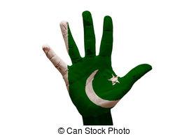Pakistan clipart Flag Art painted palm pakistan