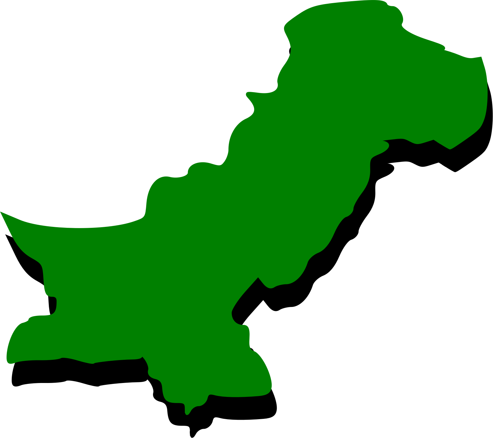Pakistan clipart Outline Free green Embossed