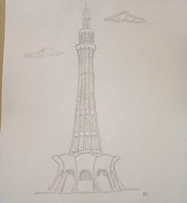 Pakistan clipart pencil sketch Minar Explore  #pencil Pakistan