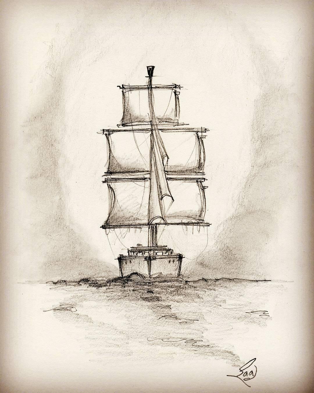 Pakistan clipart pencil sketch #art Sail Sailboat &