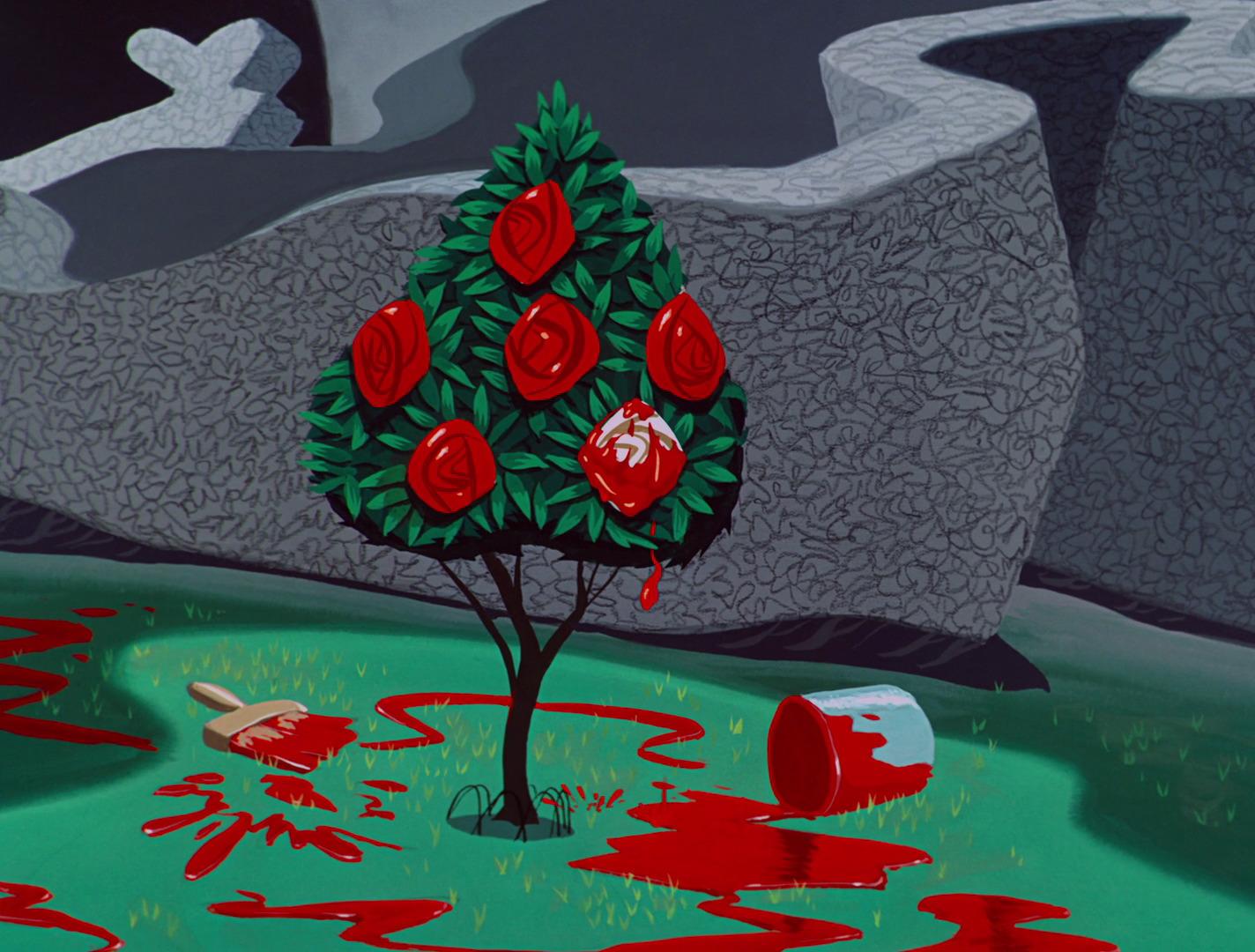 Drawn alice in wonderland rose #5