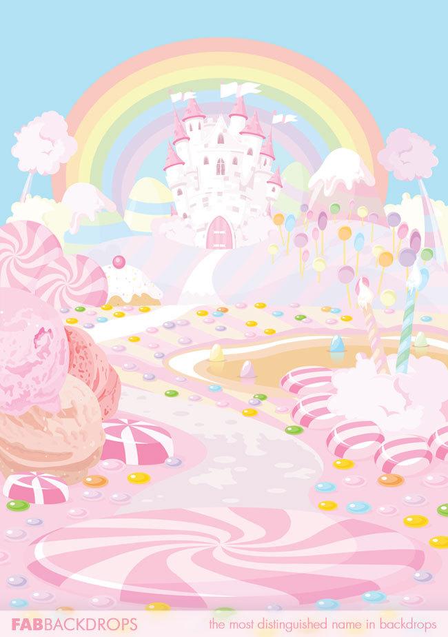 Palace clipart candy castle Princess the by Kingdom Backdrop