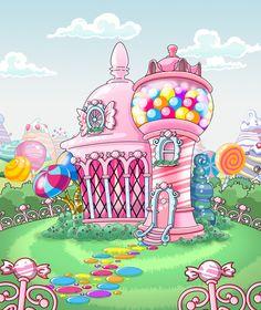 Palace clipart candy castle #backdrops Adorable Backdrop #backdropsbeautiful candy