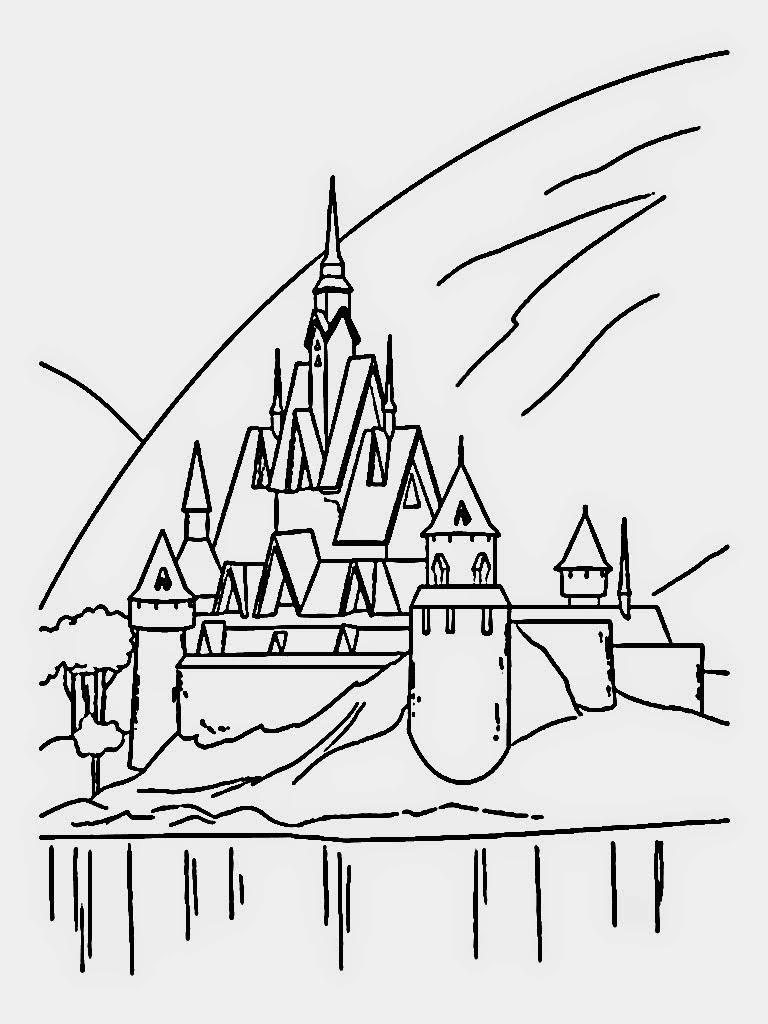 Drawn palace arendelle castle Pages: castle Coloring com Castle