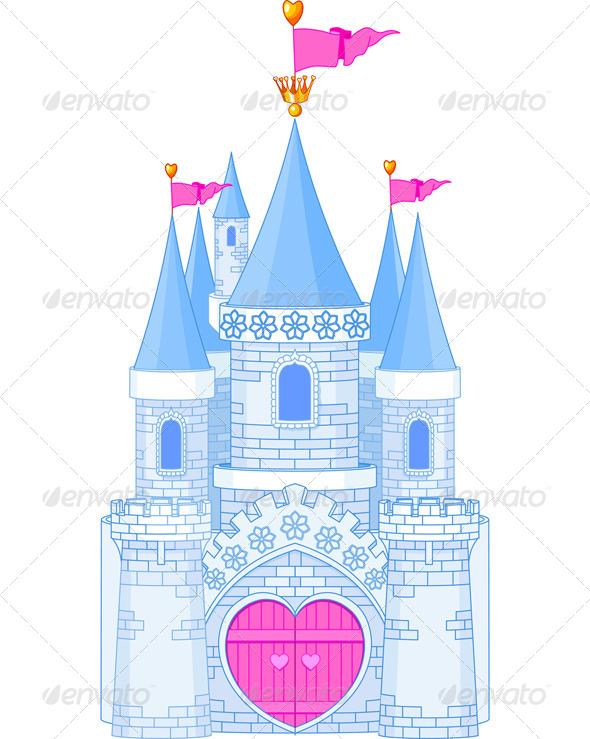 Blur clipart princess crown Art building castle Castle blue