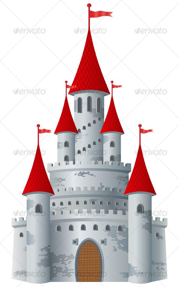 Structure clipart fairytale castle Fairy tale castle Vector background
