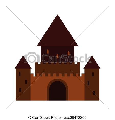 Structure clipart palace Structure of icon style symbol