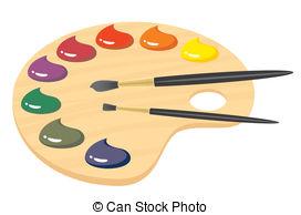 Palette clipart graphic design And Palette 629 paint Stock