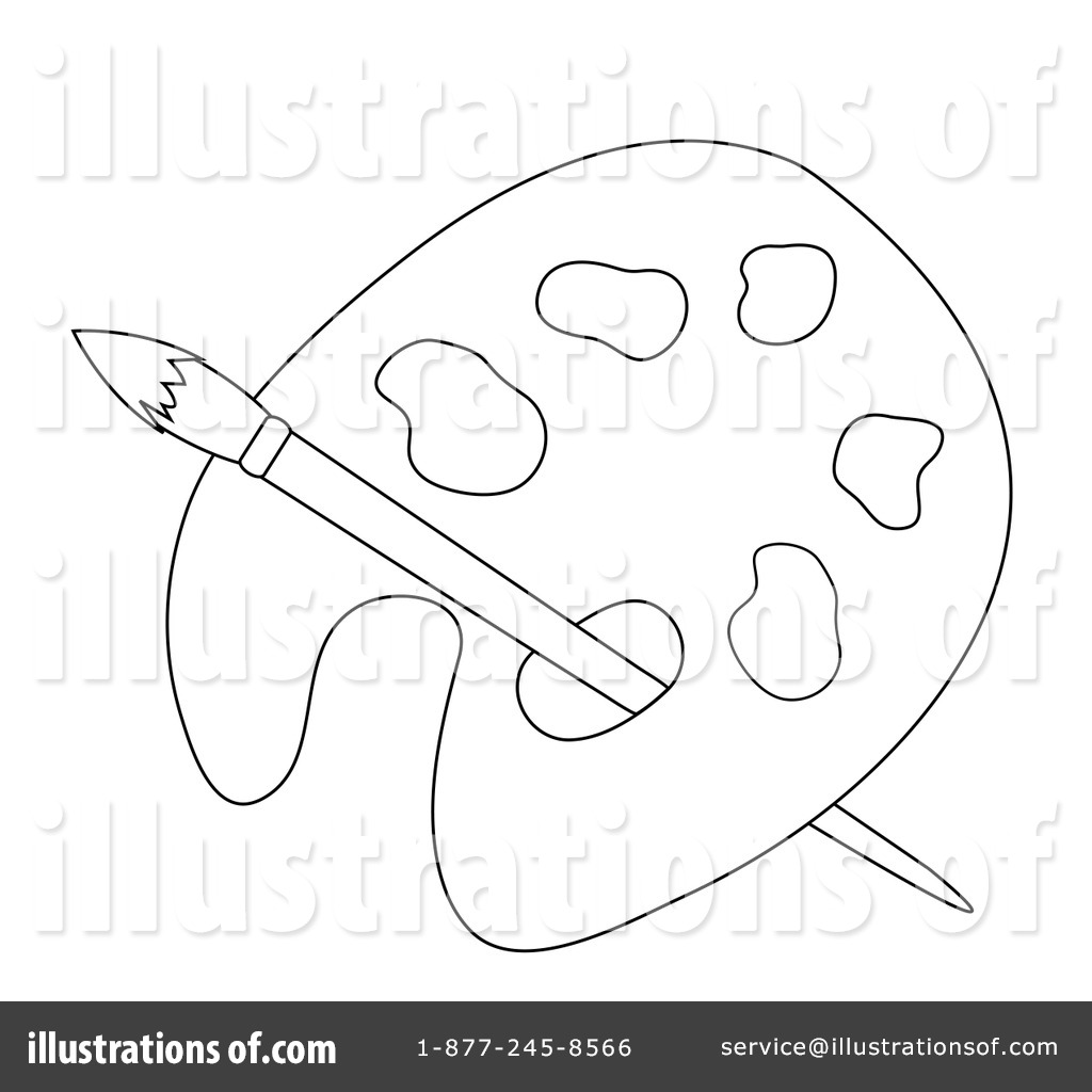 Palette clipart outline Sample #84822 Illustration Pams Palette