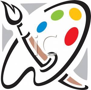 Palette clipart paintbrush A a Palette A Palette