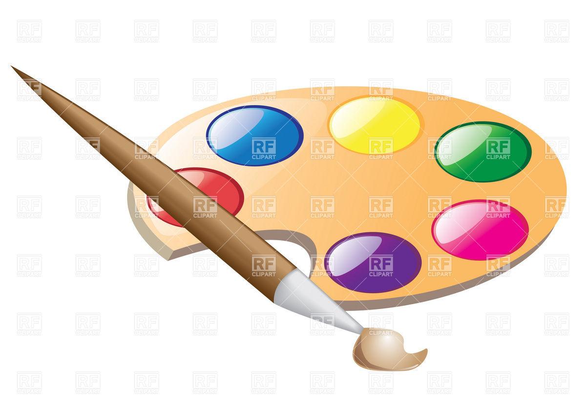Palette clipart paintbrush Free paintbrush Palette Clipart Clipart
