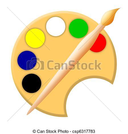 Palette clipart paintbrush Illustration palette csp6317783  artistic