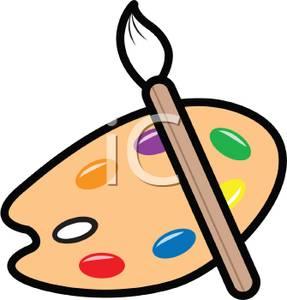 Palette clipart paintbrush Clipart Paintbrush A Clipart and