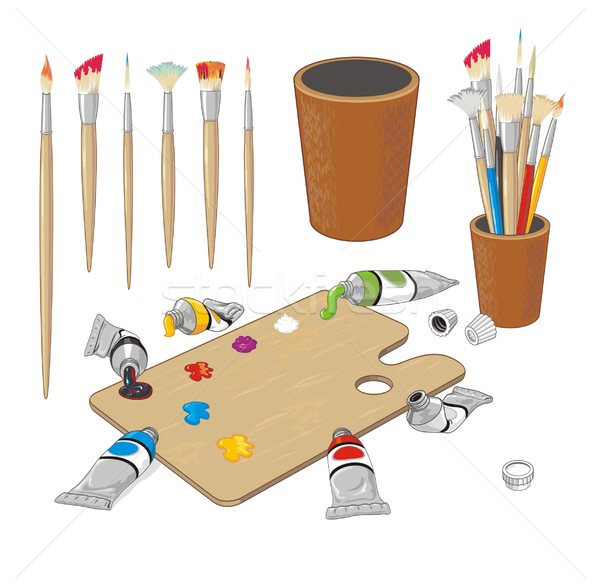 Palette clipart painting material © Download HouseBrasil Material to