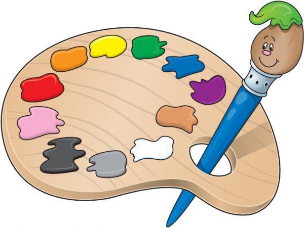 Palette clipart visual art K Program 5 Art Visual