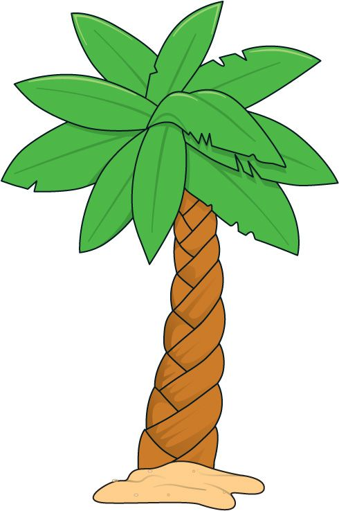 Lines clipart palm tree #11