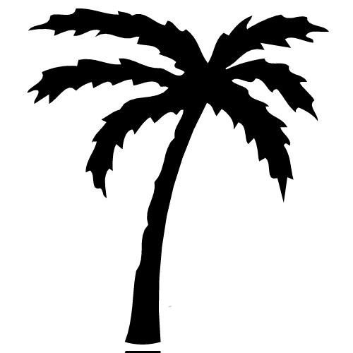 Line clipart palm tree Trees tree clip  art