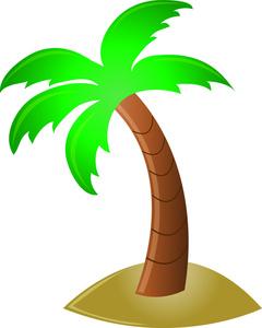 Line clipart palm tree Tree Images Art Panda Free