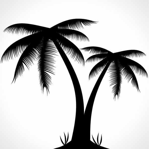 Palm Tree clipart caribbean food Tree  Palm Palm Silhouette
